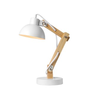 LAMPE DE TABLE EN BOIS ET METAL BOIS 30x15x42cm 4B