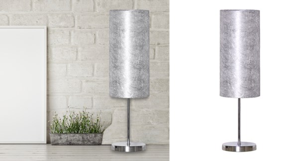 Grey Table Lamp 48x14CM-4B