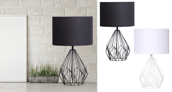 Metal Wire Lamp White-51x31 - 4B