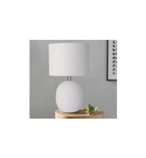 Lampe en c'ramique blanche 30x30x43-4B
