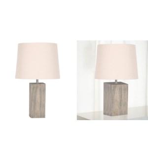 Lampe en r'sine de chˆne 30x30x46-4B