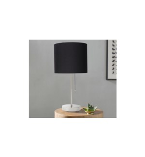 Lampe de table en m'tal noir 19x19x42-4B