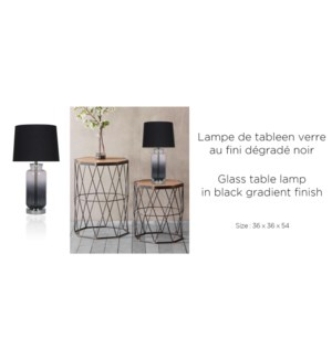 Lampe de table … d'grad' noir 36x36x54 - 2B