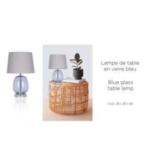 Lampe de table bleue 28x28x48 - 2B