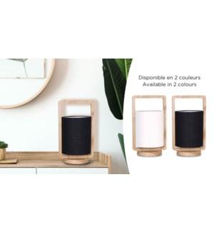 Lampe de table 21 structure bois / abat-jour noir W