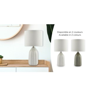 Lampe de table 21 Chevron Gris 24x24x40 - 4B