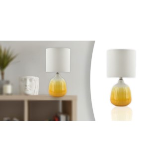 Lampe de table 21 Jaune & Blanc 22x22x43-4B