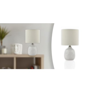 Lampe de table 21 Chevron Blanc 20x20x37 - 4B