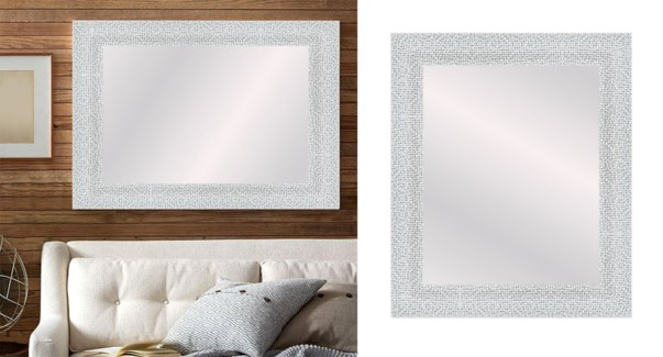 TEXTURED-matt Silver-24 x 36-MIRRORS