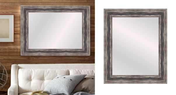 TEXTURED-LEAF BROWN-12 X 48-MIRRORS