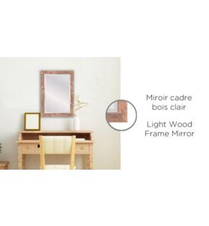 Miroir cadre bois clair 24x36-2B