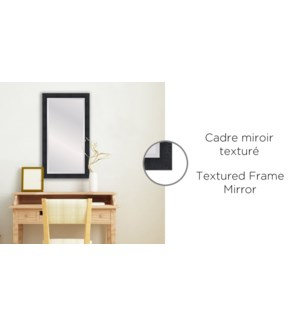 Cadre Miroir Noir Textur' - 24x48 - 2B