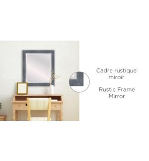 Cadre Rustique Miroir Bleu Gris -26x30 - 2B