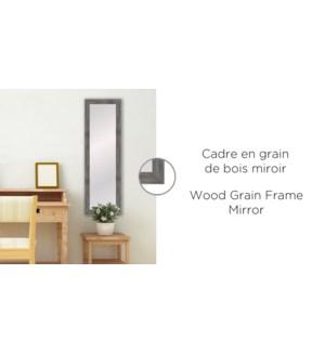 Cadre en grain de bois miroir taupe - 12x48-2b