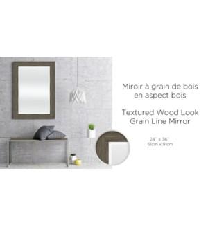 Miroir … grain de bois aspect bois textur' 24x36-2B