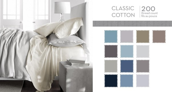 CLASSIC COTTON T200 FITTED SHEET ASST T 10