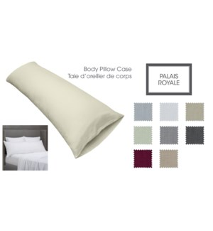 PALAIS ROYAL T300 ASST BODYPILLOW CASE 10B