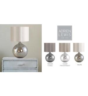 LAMPE DE TABLE EMPREINTE EMBOSS ARGENT/NOIR 30X43 4B