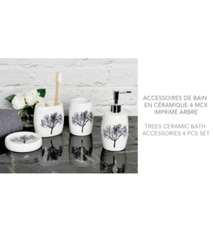Arbres 4PC Set de bain en c'ramique  12B