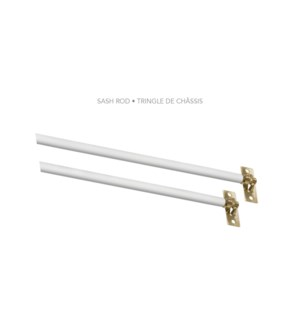 "5/16"" SASH ROD 21-40"" WHITE"