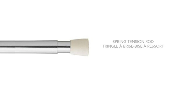 """5/8"""" SPRING TENSION ROD 48-75"""" SILVER"""