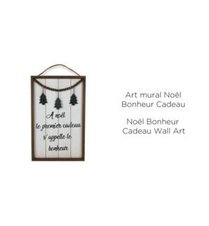 Art mural Xmas Bonheur Cadeau 49x31x2-8B