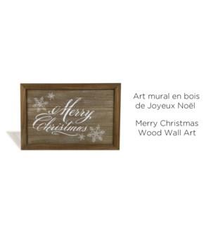 Art mural en bois de No‰l joyeux No‰l 36x24x1.2-8B
