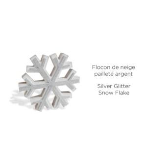 Argent de No‰l Flocon de neige - 18x18x2.3CM-8B
