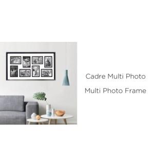 Cadre Photo Multi - 8- 42X72CM - 8B