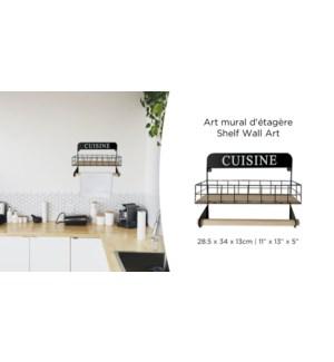 D'co murale pour 'tagŠre de cuisine - 28.5x34x13-6B