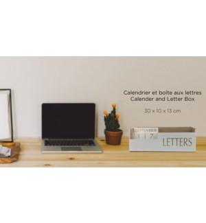 Calendrier et boŒte aux lettres 30x10x13 - Blanc - 8B