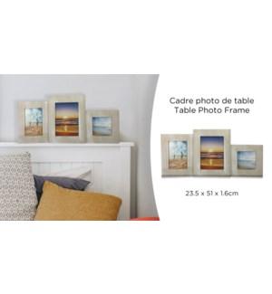 Cadre photo de table en bois - 23,5x51x1,6- 8B