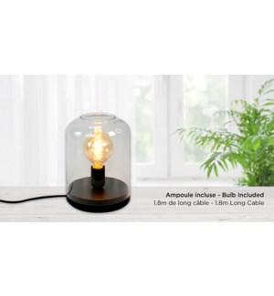 Verre de Lampe 17x23 - Noir - Avec Ampoule 17x23