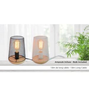 Lampe Caged Noir 15x23 -W / BUlb 6B