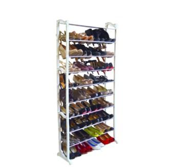 Urban Whi Shoe Rack   40prs 6b