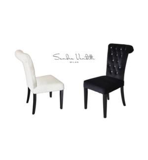 Velvet Diamnd Blk Chair