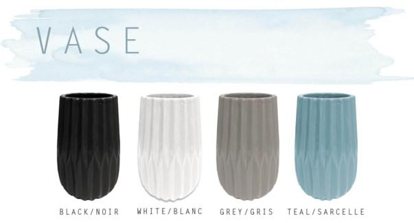 Pottery Vase  10x9.75x15cm Asst. 8b