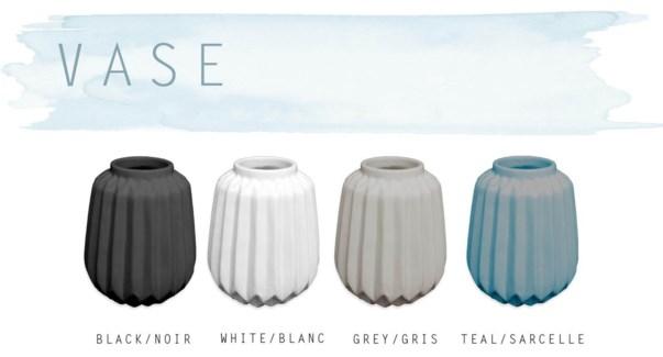 Pottery Vase  11.5x11.5x13cm Asst. 16b
