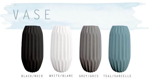 Pottery Vase  13x13.3x26.5cm Asst. 8b