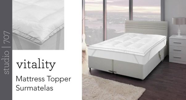VITALITY Matress Topper 3/bx T