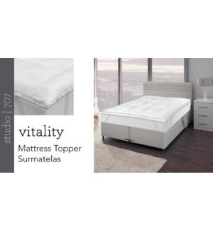 VITALITY Matress Topper 3/bx T XL