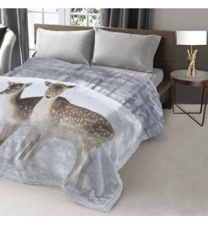 COLLECTION FAUNE COUVERTURE EN MICRO VISON ASST 78x94 3B
