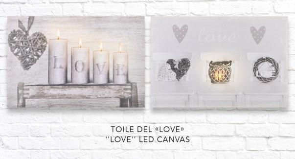 Toile Love LED - 40x60 - 12B