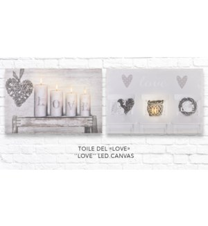 Toile Love LED - 40x60 - 12B