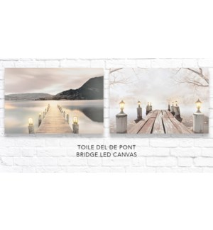 Pont LED Canvas 40x60 - 12B