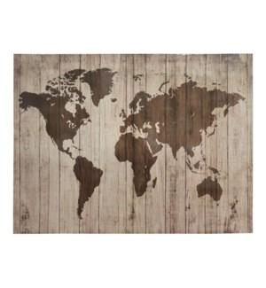 Wall ART WORLD MAP BIN-S11-2 90X120CM 4/B