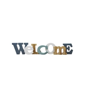 Wood Plaque - Welcome 12x46x3 - 8B