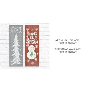 No‰l Let It Snow Art mural - 20x60 - 12B