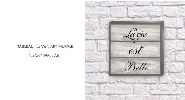 Art Mural La Vie 35x35-8B