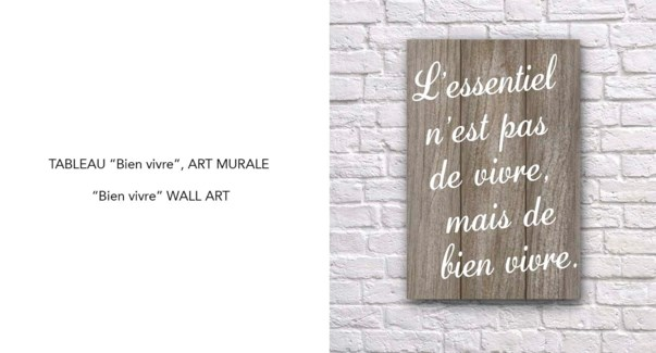 Art Mural Bien Vivre 40x60-8B